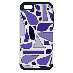 Silly Purples Apple Iphone 5 Hardshell Case (pc+silicone) by FunWithFibro