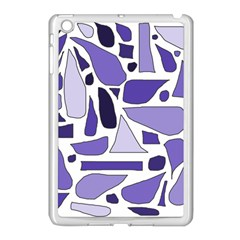 Silly Purples Apple Ipad Mini Case (white) by FunWithFibro