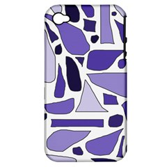 Silly Purples Apple Iphone 4/4s Hardshell Case (pc+silicone) by FunWithFibro