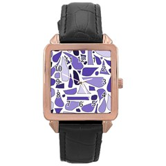 Silly Purples Rose Gold Leather Watch