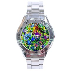 The Neon Garden Stainless Steel Watch by rokinronda