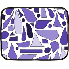 Silly Purples Mini Fleece Blanket (two Sided) by FunWithFibro
