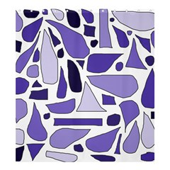 Silly Purples Shower Curtain 66  X 72  (large) by FunWithFibro