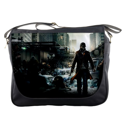 Bag Watch Dogs By Jasonwsc   Messenger Bag   Lkbfdsxyz20y   Www Artscow Com Front