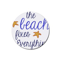 The Beach Fixes Everything Drink Coaster (round) by OneStopGiftShop