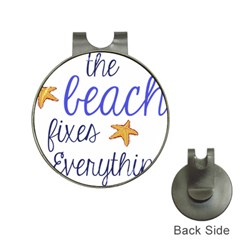 The Beach Fixes Everything Hat Clip With Golf Ball Marker by OneStopGiftShop
