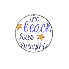 The Beach Fixes Everything Golf Ball Marker 4 Pack (for Hat Clip) by OneStopGiftShop