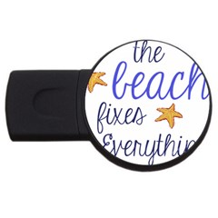 The Beach Fixes Everything 4gb Usb Flash Drive (round)