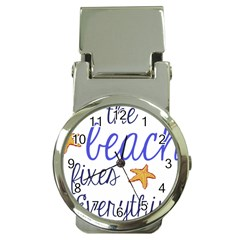 The Beach Fixes Everything Money Clip With Watch by OneStopGiftShop
