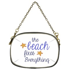 The Beach Fixes Everything Chain Purse (one Side) by OneStopGiftShop