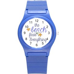 The Beach Fixes Everything Plastic Sport Watch (small) by OneStopGiftShop