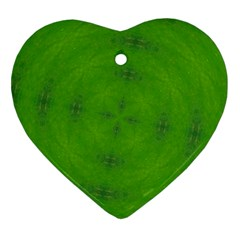 Go Green Kaleidoscope Heart Ornament (two Sides)