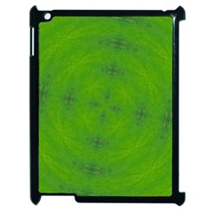 Go Green Kaleidoscope Apple Ipad 2 Case (black) by Fractalsandkaleidoscopes