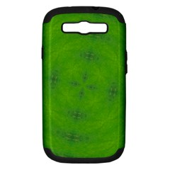 Go Green Kaleidoscope Samsung Galaxy S Iii Hardshell Case (pc+silicone) by Fractalsandkaleidoscopes