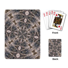 Flowing Waters Kaleidoscope Playing Cards Single Design by Fractalsandkaleidoscopes