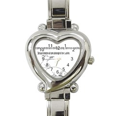 Better To Take Time To Think Heart Italian Charm Watch  by Doudy