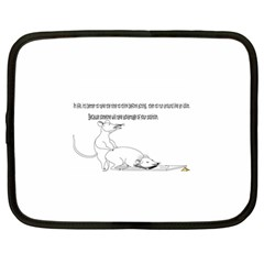 Better To Take Time To Think Netbook Sleeve (large) by Doudy