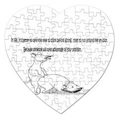 Better To Take Time To Think Jigsaw Puzzle (heart) by Doudy