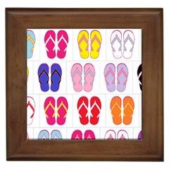 Flip Flop Collage Framed Ceramic Tile by StuffOrSomething