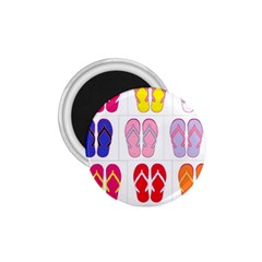 Flip Flop Collage 1 75  Button Magnet by StuffOrSomething
