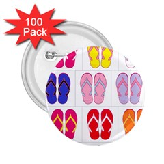 Flip Flop Collage 2 25  Button (100 Pack) by StuffOrSomething