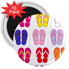 Flip Flop Collage 3  Button Magnet (10 Pack) by StuffOrSomething