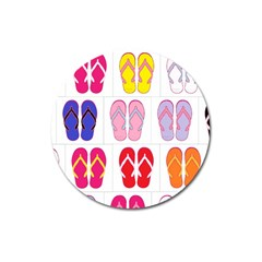 Flip Flop Collage Magnet 3  (round) by StuffOrSomething