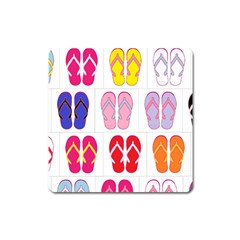 Flip Flop Collage Magnet (square) by StuffOrSomething