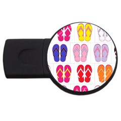 Flip Flop Collage 4gb Usb Flash Drive (round) by StuffOrSomething