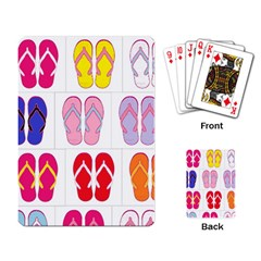 Flip Flop Collage Playing Cards Single Design by StuffOrSomething
