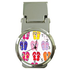 Flip Flop Collage Money Clip With Watch by StuffOrSomething