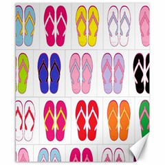 Flip Flop Collage Canvas 8  X 10  (unframed) by StuffOrSomething