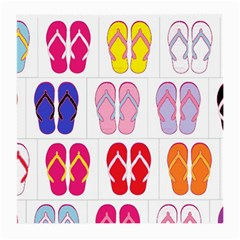 Flip Flop Collage Glasses Cloth (medium, Two Sided) by StuffOrSomething