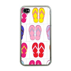 Flip Flop Collage Apple Iphone 4 Case (clear) by StuffOrSomething