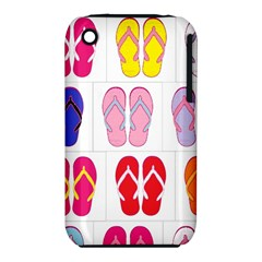 Flip Flop Collage Apple Iphone 3g/3gs Hardshell Case (pc+silicone) by StuffOrSomething