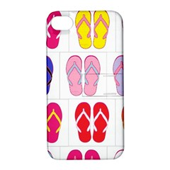 Flip Flop Collage Apple Iphone 4/4s Hardshell Case With Stand by StuffOrSomething