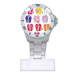 Flip Flop Collage Nurses Watch