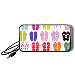 Flip-Flop Collage Portable Speaker (Black) by StuffOrSomething