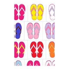 Flip Flop Collage Shower Curtain 48  X 72  (small) by StuffOrSomething