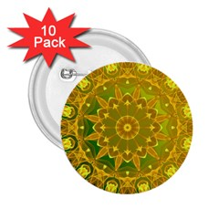 Yellow Green Abstract Wheel Of Fire 2 25  Button (10 Pack) by DianeClancy