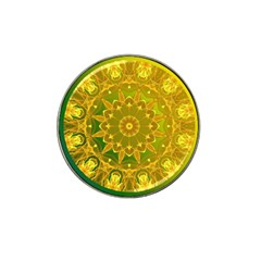 Yellow Green Abstract Wheel Of Fire Golf Ball Marker 4 Pack (for Hat Clip)