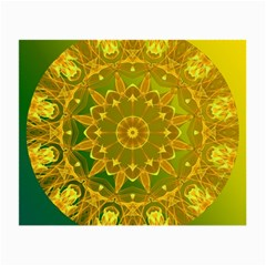 Yellow Green Abstract Wheel Of Fire Glasses Cloth (small)