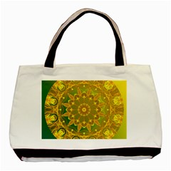 Yellow Green Abstract Wheel Of Fire Classic Tote Bag by DianeClancy
