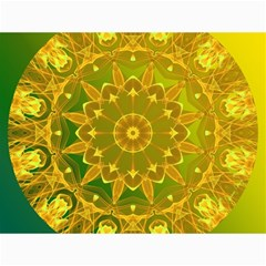 Yellow Green Abstract Wheel Of Fire Canvas 18  X 24  (unframed)