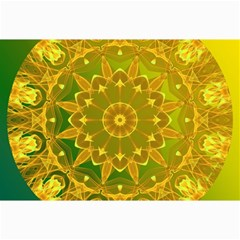 Yellow Green Abstract Wheel Of Fire Canvas 24  X 36  (unframed) by DianeClancy