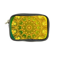 Yellow Green Abstract Wheel Of Fire Coin Purse by DianeClancy