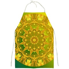 Yellow Green Abstract Wheel Of Fire Apron