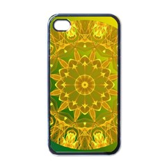 Yellow Green Abstract Wheel Of Fire Apple Iphone 4 Case (black) by DianeClancy