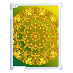 Yellow Green Abstract Wheel Of Fire Apple Ipad 2 Case (white)