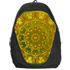 Yellow Green Abstract Wheel Of Fire Backpack Bag